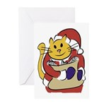 Here Comes Santa Cat! Greeting Cards (box Of 10)