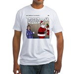 Santa Disrespected Fitted T-Shirt
