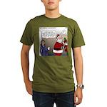 Santa Disrespected Organic Men's T-Shirt (dark)