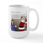 Santa Disrespected Large Mug