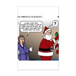 Santa Disrespected Mini Poster Print