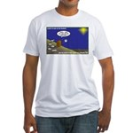Silent Night Light Fitted T-Shirt
