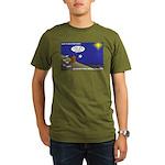 Silent Night Light Organic Men's T-Shirt (dark)