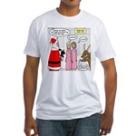 Santa Shopping Fitted T-Shirt