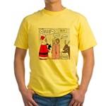 Santa Shopping Yellow T-Shirt