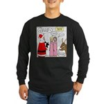 Santa Shopping Long Sleeve Dark T-Shirt
