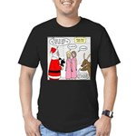 Santa Shopping Men's Fitted T-Shirt (dark)