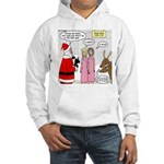 Santa Shopping Hooded Sweatshirt