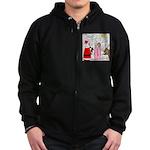 Santa Shopping Zip Hoodie (dark)