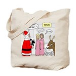 Santa Shopping Tote Bag