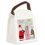 Santa Shopping Canvas Lunch Bag