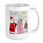 Santa Shopping Large Mug