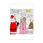 Santa Shopping Mini Poster Print