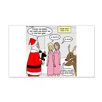 Santa Shopping 20x12 Wall Decal