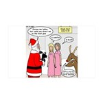 Santa Shopping 35x21 Wall Decal