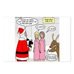 Santa Shopping Postcards (Package of 8)