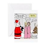Santa Shopping Greeting Card