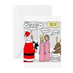 Santa Shopping Greeting Cards (Pk of 20)