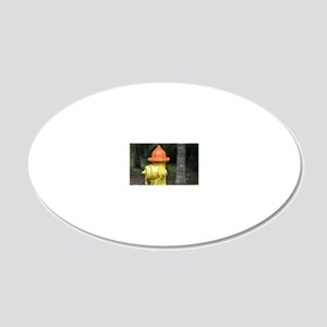 Fire Hydrant  20x12 Oval Wall Decal