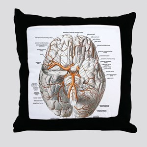 Brain and Blood Vessels Throw Pillow