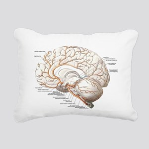 Circulation of the Brain Rectangular Canvas Pillow