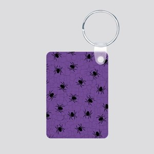 Purple Spider Pattern Keychains