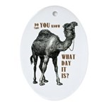 Do You Know What Day It Is Ornament (Oval)