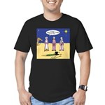 Frosty and the Wise Men Men's Fitted T-Shirt (dark