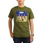 Frosty and the Wise Men Organic Men's T-Shirt (dar