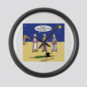 Frosty and the Wise Men Large Wall Clock
