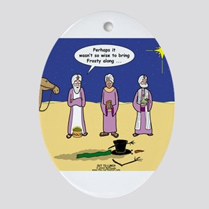 Frosty and the Wise Men Ornament (Oval)