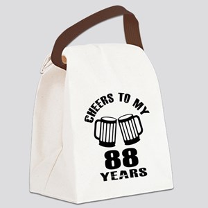 Cheers To My 88 Years Birthday Canvas Lunch Bag