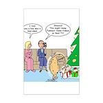 Boa for Christmas Mini Poster Print