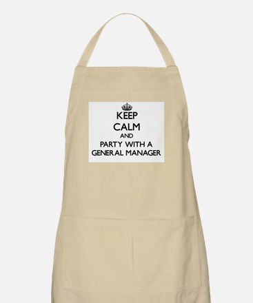 Keep Calm and Party With a General Manager Apron