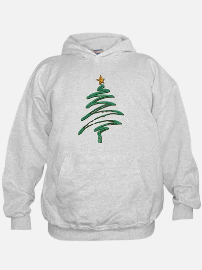 Swished Xmas Tree Logo copy Hoodie