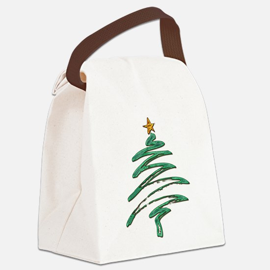 Swished Xmas Tree Logo copy Canvas Lunch Bag