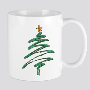Swished Xmas Tree Logo copy Mugs
