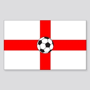soccer flag-England Rectangle Sticker
