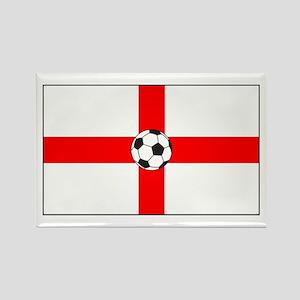 soccer flag-England Rectangle Magnet