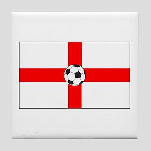soccer flag-England Tile Coaster