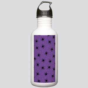 Purple Spider Pattern Water Bottle