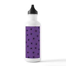 Purple Spider Pattern Water Bottle
