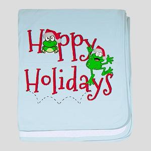 Hoppy Holidays - Frogs baby blanket
