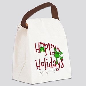 Hoppy Holidays - Frogs Canvas Lunch Bag