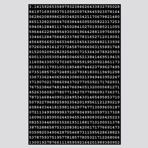 Pi to 1,000 Places Large Poster