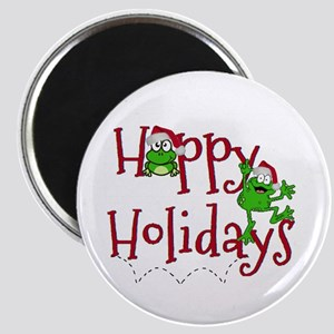 Hoppy Holidays - Frogs Magnets