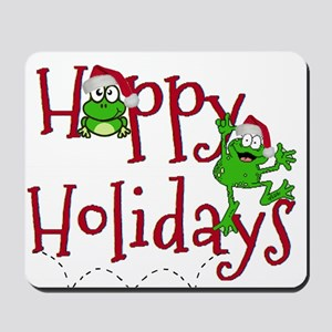Hoppy Holidays - Frogs Mousepad