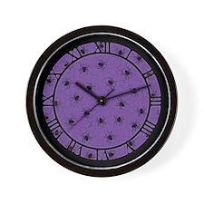 Purple Spider Pattern Wall Clock