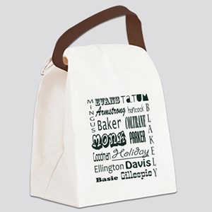 jazz Canvas Lunch Bag