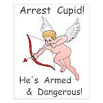 Arrest Cupid Small Poster